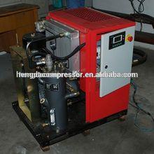 Industrial 7.5kw 7-13bar combinado de tornillo compresor de aire con el tanque de filtro y heavy duty tornillo compresor de aire