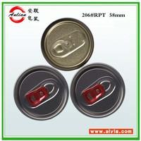 Free sample 209/300/307/401 open instruction aluminum bottl cap