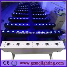 Wedding party events decoration led uplighting 6x18w RGBAW UV 6 IN 1 small wireless dmx wall washer