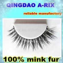 NO.16 100% siberia real mink fur strip eyelash logo package