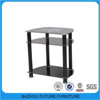 modern metal frame glass tv trolley furniture