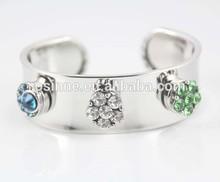 China Alibaba fashion silver snap button bangle bracelet fit ginger snap charm STOCK NAB035