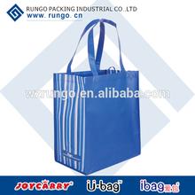 Shiny laminated Non-woven tropic tote bag