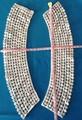 fashion dyeable colar de algodão crochet do laço no pescoço para o vestuário