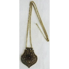 China wholesale alloy jewelry retro brass long chain necklace fashion accessories