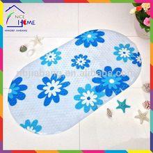 Print blue flower designer unique pvc child playing mat