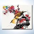 Oiseau abstrait peinture Truehearted africaine bois art