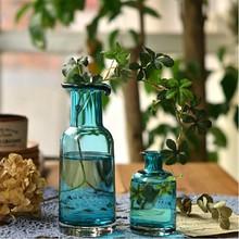 Blue handblown glass vase wholesale