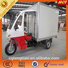 Hot selling three wheel closed cabin box / trike cargo with closed cabin box cargo