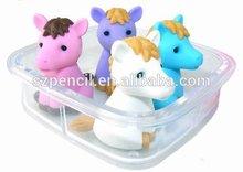 Novelty animal shaped eraser for kids toy---3D Horse eraser