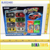 Small plastic toy car set colorful transmitter high speed racing car