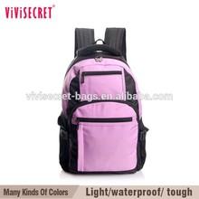 vivisecret 2015 Alibaba Wholesale Backpack Factory Fashion Laptop Nylon Promotional Sport Student School Bag