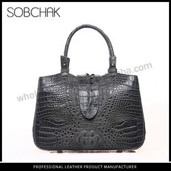 Stock available Top layer leather genuine crocodile skin designer europe handbag
