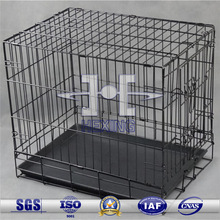 Black Folding Welded Metal Wire Animal Cage