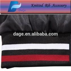 100%cotton plain dyed color knitting rib