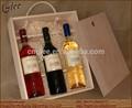 Tres botellas de vino llevar mochila
