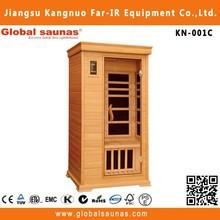 wooden far infrared mini sauna cabin for one person home use