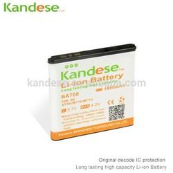 Wholesale Cell Phone Li-ion Battery 1800mAh Capacity For Sony Ericsson BA700 ST18i MT11i MT15i MK16i Galaxy X peria Neo MT15i