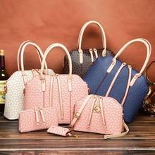 4 pcs set handbag Fashion handbag wholesale for women with good leather factory price