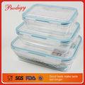 vendita calda 3 pezzi rettangolo di plastica contenitore termico per alimenti