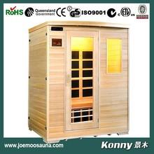 2014 KL-3SF new luxury good wood far infrared sauna room