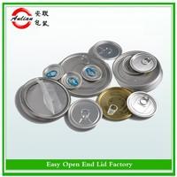 Free sample 209/300/307/401 open instruction Aluminum can lid easy open metal cap