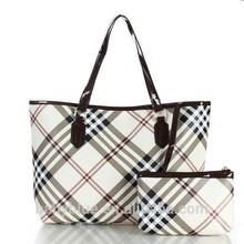 2014 newest Classical Plaid trend PU handbag for women handbag for women