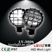 12v 24v off road 4x4 hid spot light , 35w/55w 4wd hid driving lights