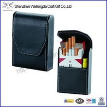Wholesale Popular Good Quality Black Leather Cigarette Case