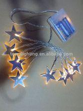 10L warmwhite light with mirror star decoration