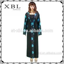 schwarze farbe baumwolle traditionellen marokkanischen cs6035 kleid