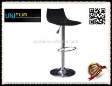 Gas lift footrest bar chair, counter swivel side bar stool