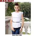 Con estilo de encaje smart manga blusa casual, smart ropa casual para la mujer/damas