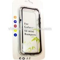 Colorful TPU+Clear PC Hybrid Bumper Case for Samsung Galaxy S4 Mini i9190