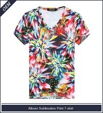 100% poliestere scollo a v t shirt produzione costo a basso prezzo