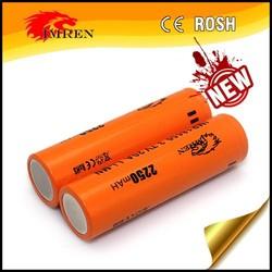 Vapor Cig 18650 battery IMREN 20A 18650 2250mah rechargeble battery