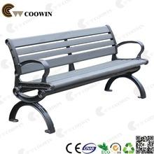 Public waiting wooden long bench chair