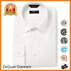 First class classic white and grey pin dot cotton dress shirt