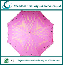 2015 Japanese style rain for lady pink promotional straight umbrella