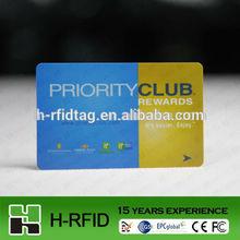 Contactless PVC vip visiting card,free sample
