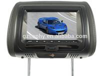 7 inç kafalık dvd araba TFT LCD monitör arka koltuk eğlence