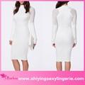 klasik toptan beyaz yüksek boyun midi payet elbiseler