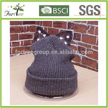 2015 fashional wholesale animal knit hat