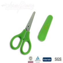 "5"" atistic school student scissor with safe plastic cover"