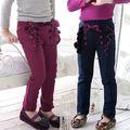 Wholesale2014 sonbahar ve kış giysileri yeni kore yay kızlar çocuk polar rahat uzun pantolon, kalem pantolon kz-0980