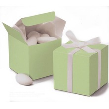 "2""x2""x2"" Green Cube Wedding Favor Boxes for baby shower, favor, gift boxes"