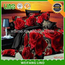 set bedding set /kid clothes bed sheets/red rose bedding set