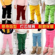 wholesale2014 fall and winter clothes new Korean Boys Girls Children's corduroy pants stretch pants kz-1133