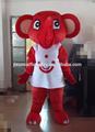 elefante rojo traje de la mascota