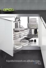 modular kitchen cabinet metal basket magic corner